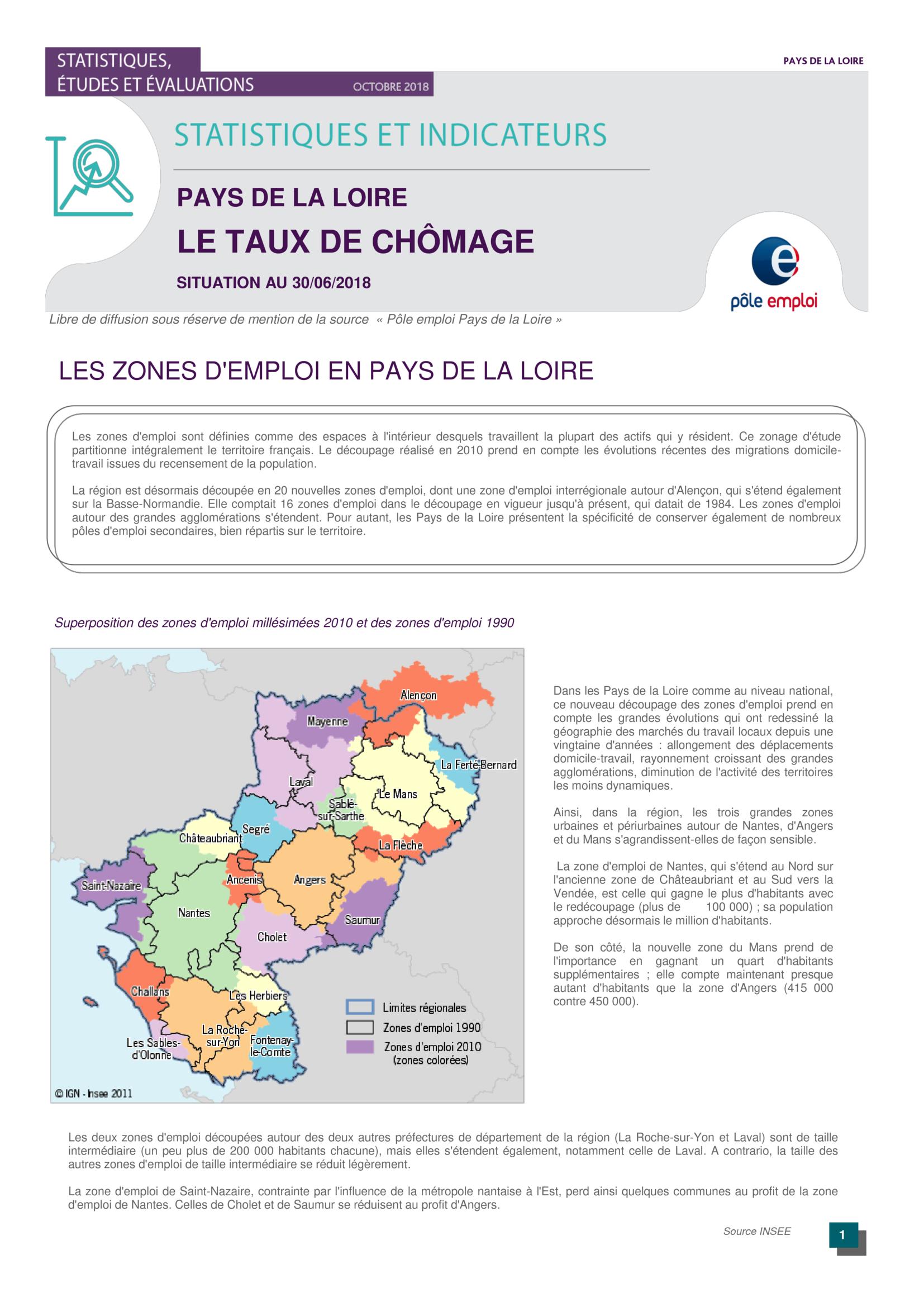 Le Taux De Chomage Pays De La Loire Par L Observatoire Regional De